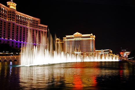 The Bellagio Fountains In Las Vegas NV